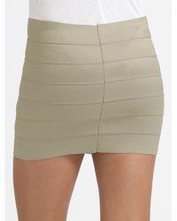 Pleasure Doing Business - Gray Banded Mini Skirt - Lyst