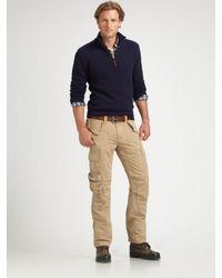 Polo Ralph Lauren | Blue Half-zip Merino Sweater for Men | Lyst