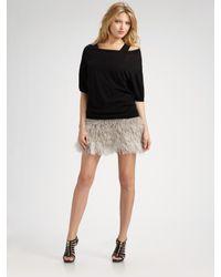 Robert Rodriguez | Natural Ostrich Feather Mini Skirt | Lyst