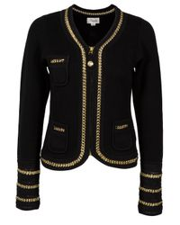 Temperley London | Black Denver Chain Detail Knit Jacket | Lyst