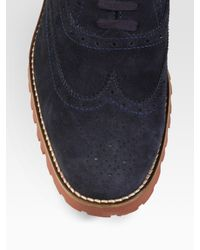 To Boot - Blue Suede Wingtips for Men - Lyst