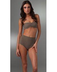 Tori Praver Swimwear | Natural Betty Bandeau Bikini Top | Lyst