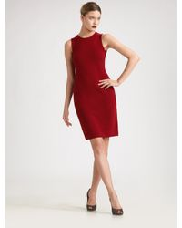 TSE | Red Merino Wool Dress | Lyst