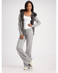 Twisted Heart | Gray Knit Drawstring Pants | Lyst