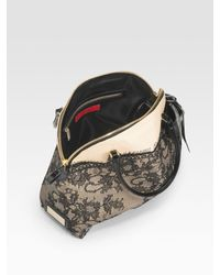 Valentino - Natural Nuage Lace & Straw Top Handle Bag - Lyst