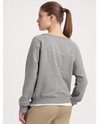 Vince - Gray Sequined Sweatshirt - Lyst