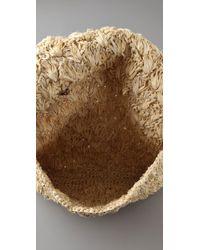 Zimmermann | Natural Straw Clutch with Pom Pom | Lyst
