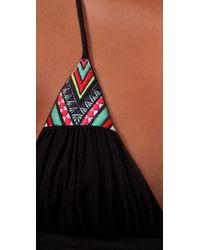 Mara Hoffman - Black Embroidered Long Dress - Lyst