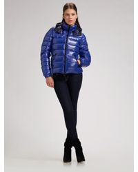 Moncler - Blue Bady Hooded Down Jacket - Lyst