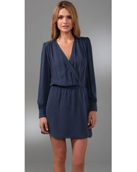 Parker | Blue Wrap Dress | Lyst