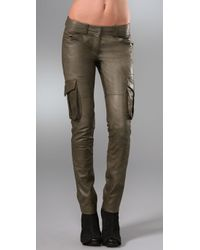 Robert Rodriguez | Green Leather Cargo Pants | Lyst