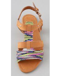 Twelfth Street Cynthia Vincent | Purple Barton Flat Sandals | Lyst