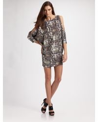 Camilla & Marc | Gray Alpha Silk Dress | Lyst