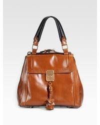 Chloé | Brown Clay Calfskin Darla Shoulder Bag | Lyst