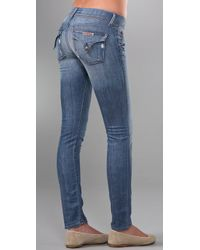 Hudson Jeans | Blue Collin Flap Pocket Skinny Jeans | Lyst