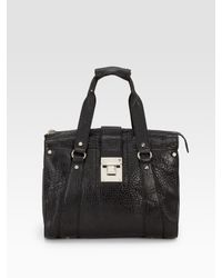 Tory Burch | Black Dayton Leather Satchel | Lyst
