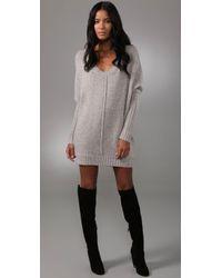 BCBGMAXAZRIA | Gray Oversized Sweater Dress | Lyst