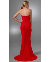 Brian Reyes - Red Corset Strapless Gown - Lyst