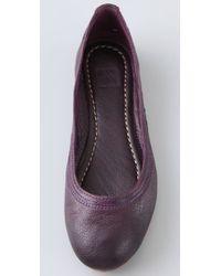 Frye - Purple Carson Ballet Flats - Lyst