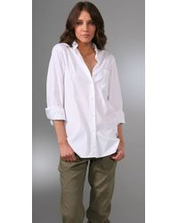 Theory | White Macina Wealth Shirt | Lyst