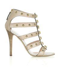 Giuseppe Zanotti - Natural Studded Leather Gladiator Sandals - Lyst