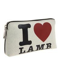 L.A.M.B. | White Signature Cosmetic Bag | Lyst