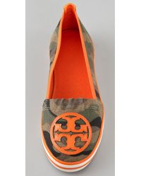 Tory Burch - Green Printed Slip On Sneaker - Lyst