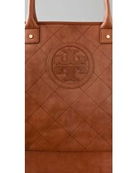 Tory Burch - Brown Jaden Washed Leather Tote in Tan - Lyst