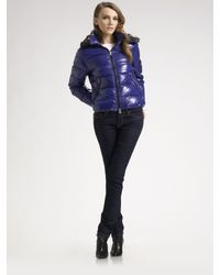 Duvetica | Blue Hooded Puffer Coat | Lyst
