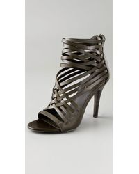 Ash | Green Hot High Heel Strappy Booties | Lyst