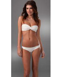 Cali Dreaming | White The Twist Front Bandeau Classic Bikini | Lyst