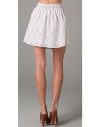 Charlotte Ronson - White Elastic Waistband Skirt with Rope Tie - Lyst