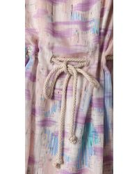 Charlotte Ronson | Blue Twisted Strap Dress with Rope Belt | Lyst