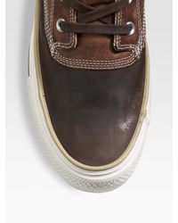 Converse - Brown Chuck Taylor Leather Duck Ankle Boots for Men - Lyst