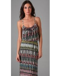 Parker   Multicolor Rectangle Print Cami Long Dress   Lyst