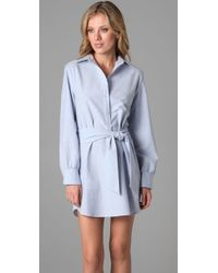 Thayer - Blue Shirtdress Cover Up - Lyst