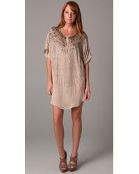 Twelfth Street Cynthia Vincent | Natural Sunburst Beaded Tunic Dress | Lyst