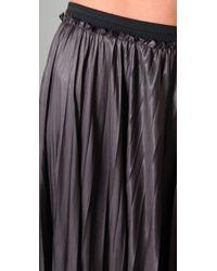 A.L.C. - Black Long Pleated Skirt - Lyst