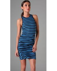 A.L.C. | Blue Striped Athletic Twisty Dress | Lyst