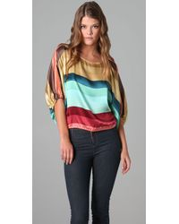 Beyond Vintage | Multicolor Striped Blouse | Lyst