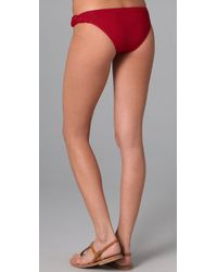 L*Space - Red Forget Me Knot Bikini Bottoms - Lyst