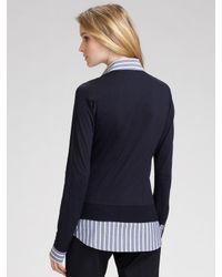 Theory | Blue Jileda Shirt/sweater Combo Top | Lyst