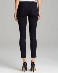 PAIGE - Black Jeans Verdugo Ankle Skinny in Kensington - Lyst