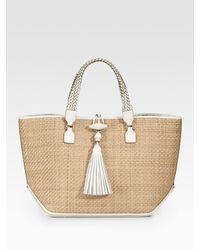 Anya Hindmarch | Natural Large Raffia Nappa Inman Top Handle Bag | Lyst