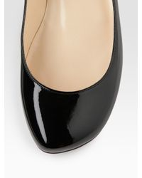 Christian Louboutin - Black Kobe Patent Leather Flats - Lyst