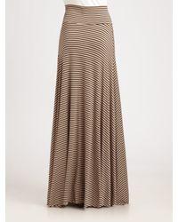 Rachel Pally - Gray Striped Maxi Skirt - Lyst
