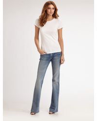 7 For All Mankind | Blue A Pocket Light-wash Jeans | Lyst