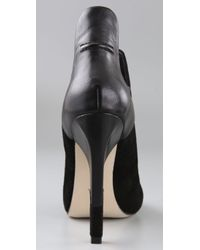 Alexander Wang Black Devon Graphic Ankle Booties