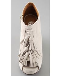 Jeffrey Campbell - White Mary Lou Suede Kiltie Booties - Lyst