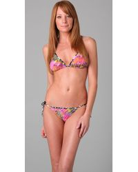 Matthew Williamson Escape | Multicolor Triangle Bikini | Lyst